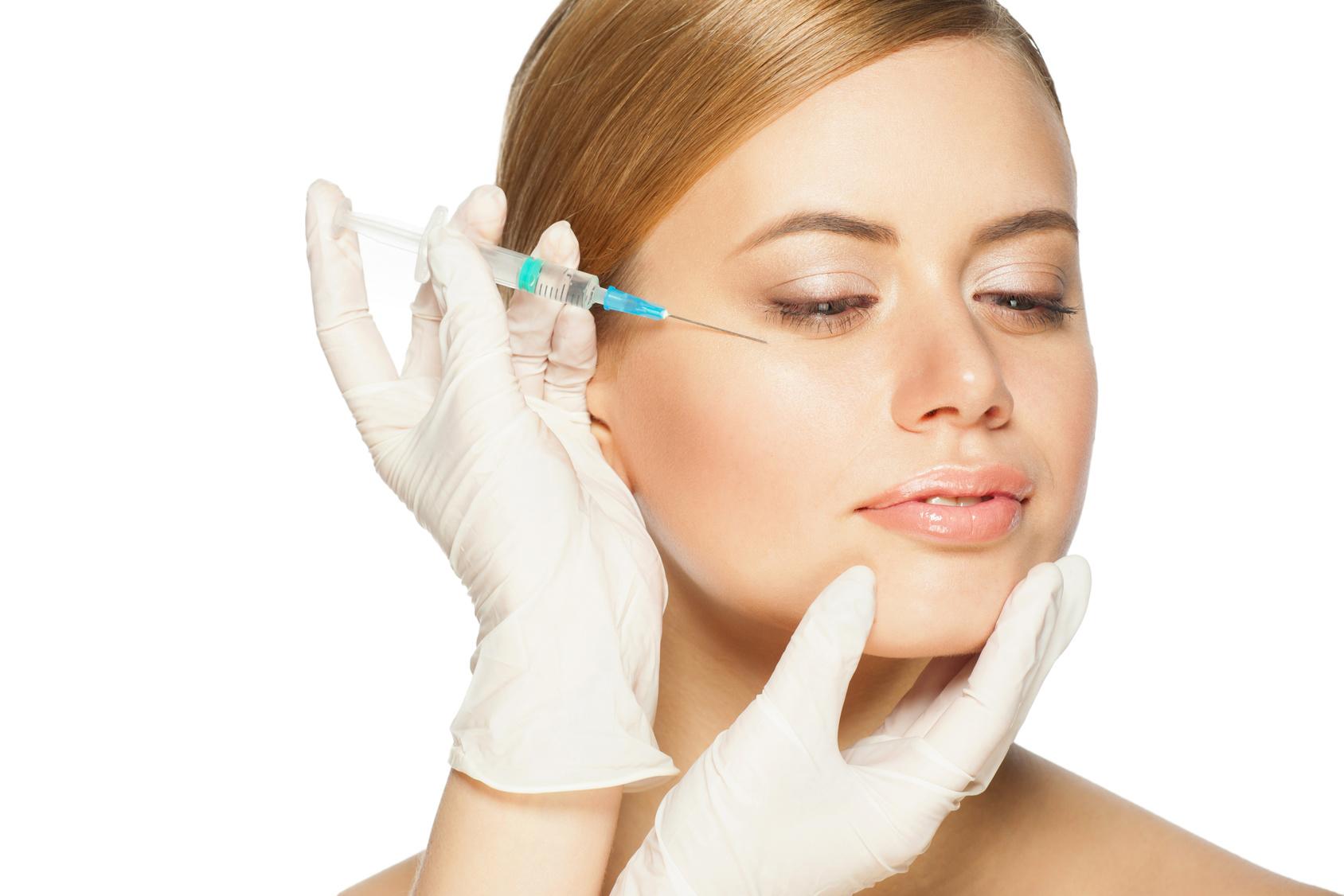 Botox-Behandlung mit Injektionen von Botulinumtoxin A