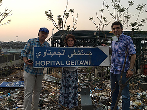 Dr.Borsche und Ehefrau mit Dr. Mansour